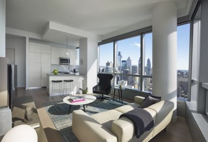 apartment with University City Philadelphia views